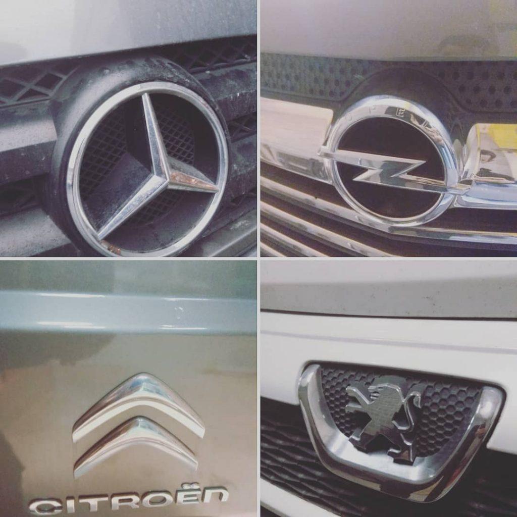 diferentes logos furgonetas